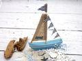 Deko Segelboot Holz Maritim Dekoschiff Tischdeko Urlaub Segeln Meer Geschenk 5