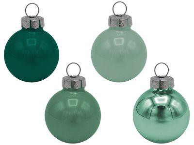 45 Weihnachtskugeln Christbaumkugeln Grün Mint Petrol Christbaumschmuck Weihnachtsdeko