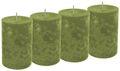 4 Stumpenkerzen Kerzen Grün Olive Tischdeko Deko Adventskranz Weihnachten Hochzeit Kommunion Konfirmation 1