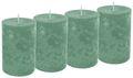 4 Stumpenkerzen Kerzen Grün Mint Salbei Tischdeko Hochzeit Kommunion Konfirmation Adventskranz  1