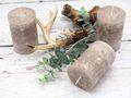 4 Stumpenkerzen Kerzen Taupe Beige Tischdeko Deko Adventskranz Weihnachten Hochzeit Kommunion Konfirmation 3