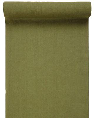 3m Tischband Tischläufer Baumwolle Grün Khaki