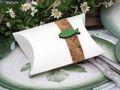 Gastgeschenk Schachtel Kork Fisch Holz Grün Basteln Kartonage Tischdeko Kommunion Konfirmation  3
