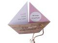 Einladungskarte Kommunion Konfirmation Taufe Boot Schiff Rosa Einladung Umschlag Braun Weiß 1
