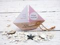 Einladungskarte Kommunion Konfirmation Taufe Boot Schiff Rosa Einladung Umschlag Braun Weiß 2