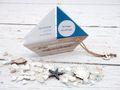 Einladungskarte Kommunion Konfirmation Taufe Boot Schiff Petrol Einladung Umschlag Braun Weiß 2