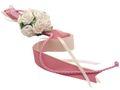 Autodeko Autoschmuck Blumengesteck Stuhlschleife Creme Rosa Mauve Hochzeit  001