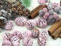 16 Zapfen Strictum Naturzapfen Rosa Beere Deko Weihnachten Adventskranz Basteln Streudeko Tischdeko Grabgestecke 7