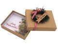 Geldgeschenk Verpackung Weihnachten Tanne Kranz Rot Natur Geschenk Gutschein 1