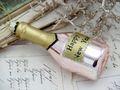 Anhänger Glas Sektflasche Champagner Pink Christbaumschmuck Weihnachtsbaumschmuck Weihnachten Silvester Party 2