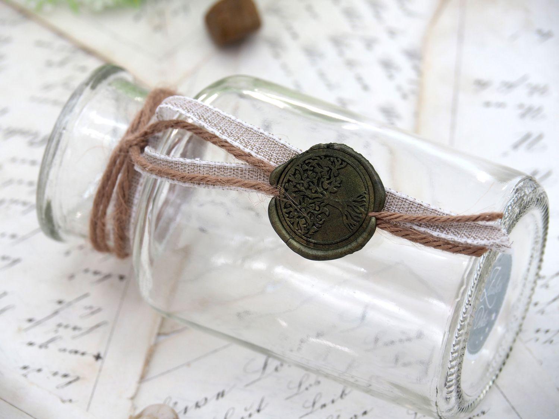 2 Vasen Kommunion Konfirmation Siegel Oliv Grün Baum des Lebens Tischdeko ELIAS