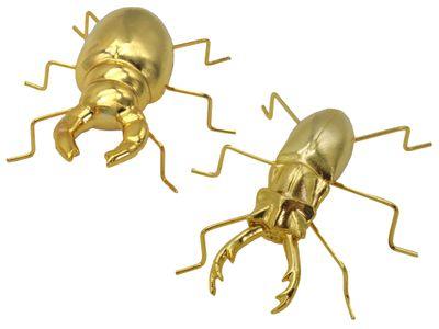 Dekofigur Käfer Gold Dekoobjekt Deko