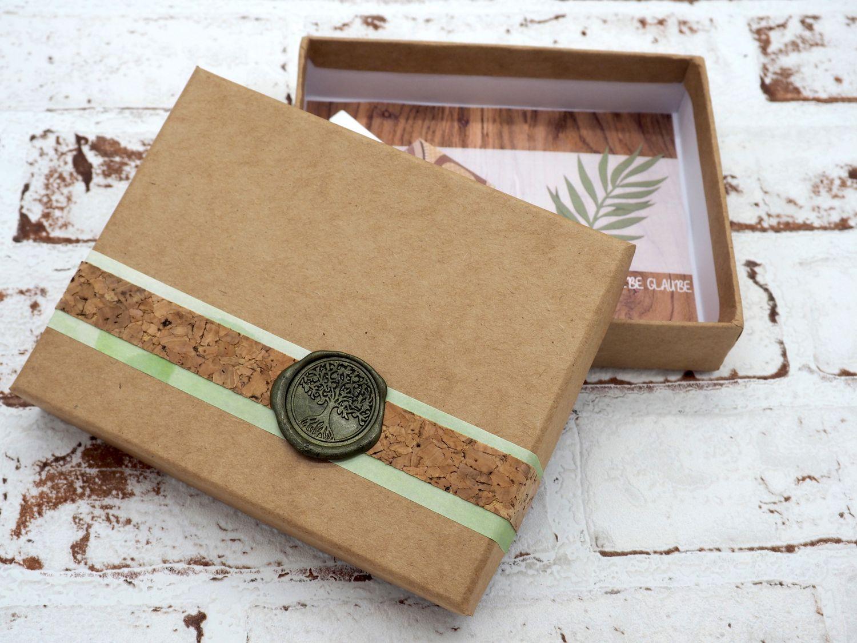 Geldgeschenk Verpackung Baum des Lebens Siegel Grün Kommunion Konfirmation Lebensbaum Gutschein ELIAS
