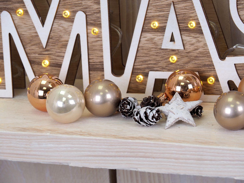 Holz Deko Weihnachten.Led Schriftzug Xmas Holz Weihnachten Deko