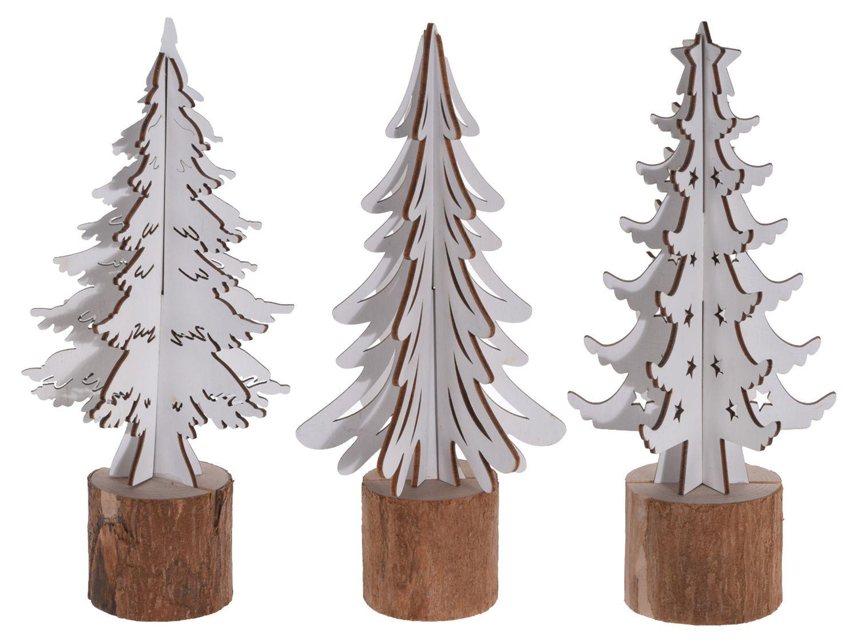 Fabulous Tannenbaum Dekofigur Weiß Holz Weihnachten Weihnachten Weihnachtsdeko HK85