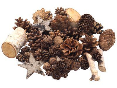 Zapfen Natur Sterne Weihnachtsdeko Deko Braun Holz Winter Weihnachten