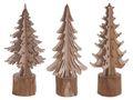 Tannenbaum Dekofigur Braun Natur Holz Weihnachten 001