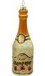 Anhänger Glas Champagner Gold Christbaumschmuck 001