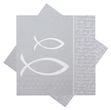 Servietten Glaube Fisch Silber Grau Tischdeko Kommunion Konfirmation 20 Stück 1