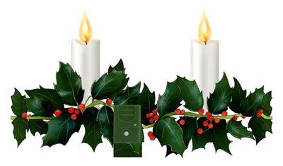 LED-Fensterbild Ilex Girlande Adventskerzen Fensterdeko Weihnachtsbeleuchtung Weihnachtsdeko Advent Weihnachten Deko