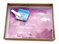 Geldgeschenk Verpackung Mauve Lila Fisch Weiß Kommunion Konfirmation Gutschein Geschenkidee 4