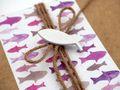 Geldgeschenk Verpackung Mauve Lila Fisch Weiß Kommunion Konfirmation Gutschein Geschenkidee 3