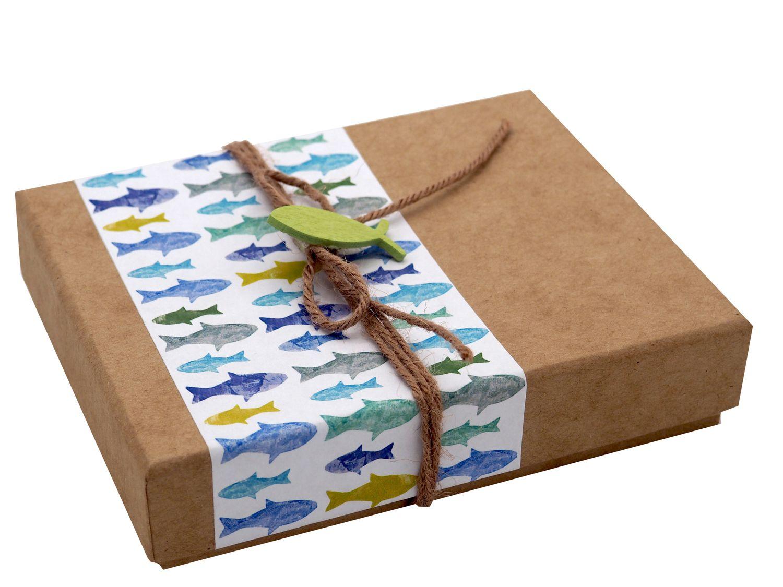 Geldgeschenk Verpackung Petrol Grün Fisch Kommunion Konfirmation Gutschein Geschenkidee
