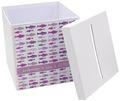 Briefbox Kartenbox MIT NAMEN Kommunion Konfirmation Fische Mauve Rosa Pink Lila 2