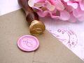 Karte Einladung Einladungskarte Kommunion Konfirmation Taufe Wachs Siegel Fisch Rosa Pink NOEMI 7