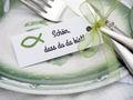 25 Kärtchen Anhänger Gastgeschenke Kommunion Konfirmation Mandeln Basteln Fisch Grün und Schön, dass du da bist 5