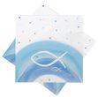 Servietten Fisch Blau Regenbogen Tischdeko Kommunion Konfirmation Taufe 20 Stück 1