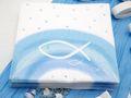 Servietten Fisch Blau Regenbogen Tischdeko Kommunion Konfirmation Taufe 20 Stück 2