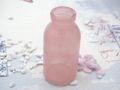 2 Vasen Flaschen Rosa Kommunion Konfirmation Tischdekoration Taufe Hochzeit Blumenvase Glas 4