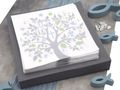 Tischdeko Kommunion Konfirmation Grau Taubenblau Blau Silber Baum des Lebens Fische SET 20 Personen  5