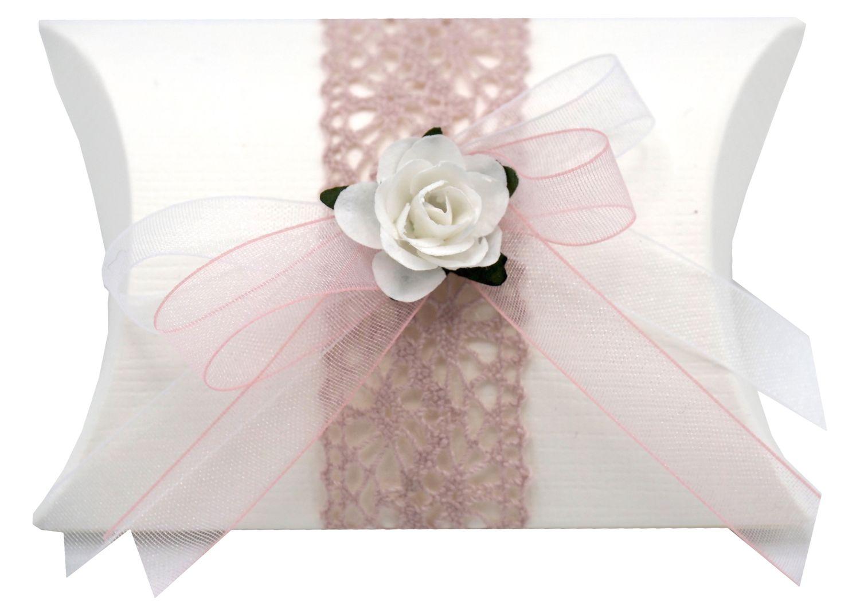 Gastgeschenk Hochzeit Spitze Rosa Weiß Vintage Tischdeko Deko MARINA