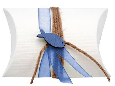 Gastgeschenk Schachtel Fisch Blau Kommunion Konfirmation DAVID