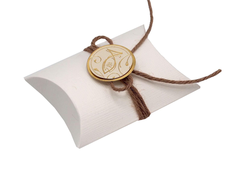 Gastgeschenk Schachtel Fisch Gold Kommunion Konfirmation Tischdeko Natur ABEL