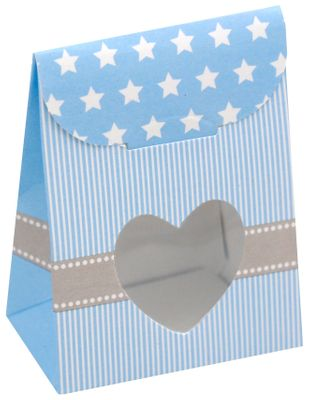 "Gastgeschenk Schachtel Blau Taufe Baby Geburt ""A new star is born"""