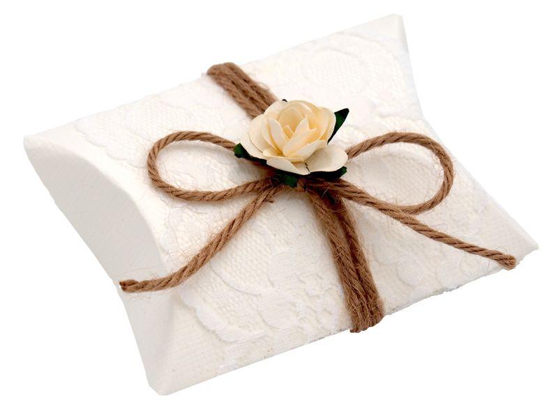 Gastgeschenk Schachtel Hochzeit Rose Natur Vintage Creme Weiß Aprikot Rot Pflaume Tischdeko