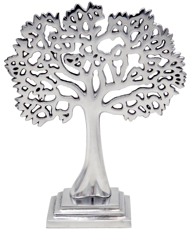 Baum des Lebens Aluminium Kommunion Konfirmation Deko Tischdeko