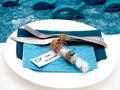 5 Gastgeschenke Kommunion Konfirmation Glasröhrchen 10cm Petrol Fisch Tischdeko Kärtchen Schön, dass du da bist 8