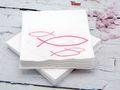 Servietten Fisch Pink Kaffeeserviette Kommunion Konfirmation Tischdeko Deko 2