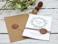 Einladungskarte Hochzeit Karte Einladung mit Namen Umschlag Kupfer Kraft Braun Natur Siegel 4