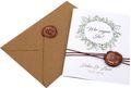 Einladungskarte Hochzeit Karte Einladung mit Namen Umschlag Kupfer Kraft Braun Natur Siegel 2