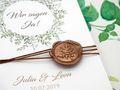Einladungskarte Hochzeit Karte Einladung mit Namen Umschlag Kupfer Kraft Braun Natur Siegel 3
