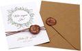 Einladungskarte Hochzeit Karte Einladung mit Namen Umschlag Kupfer Kraft Braun Natur Siegel 1