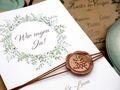 Einladungskarte Hochzeit Karte Einladung mit Namen Umschlag Kupfer Kraft Braun Natur Siegel 6