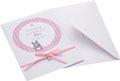 Karte Einladung Taufe MIT NAMEN mit Umschlag Rosa Einladungskarte Baby Geburt Mädchen 1