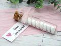 5 Gastgeschenke Hochzeit Kommunion Konfirmation Rosa Glasröhrchen Kärtchen Schön, dass du da bist 7