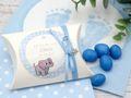 Gastgeschenk Taufe Junge personalisiert MIT NAMEN Blau Baby Geburt Babyshower  3